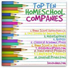 Top Ten Homeschool Companies