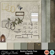 The Build a Tree Kit is fully customizable, simply use the pieces included to make framable photo trees! Pieces are also useful to add interest and information to your heritage / family history pages. See my examples included. Information on font included. On promotion 12 - 26th Feb
