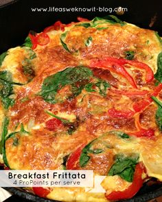 life as we know it...: Weight Watchers Wednesday   ProPoint friendly recipes...Breakfast Frittata, and Curried Sausages