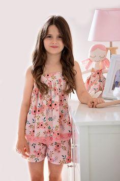 Adelaide Pajama Set — Little Lizard King Girls Night Dress, Dresses Kids Girl, Kids Outfits Girls, Cute Outfits For Kids, Night Gown, Girl Outfits, Nightgown Pattern, Kids Nightwear, Kids Dress Patterns
