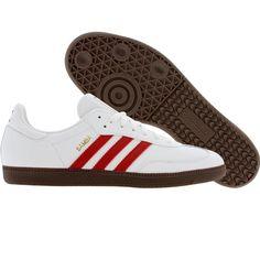 Adidas Sambas (runninwhite / light scarlet / metal gold) Gotta get these! Adidas Samba White, Running Sneakers, Adidas Sneakers, Adidas Runners, Vogue, Mens Clothing Styles, Sports Shoes, Adidas Originals, Trainers