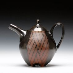 Karl Borgeson - Teapot Soda fired porcelain with multiple glazes