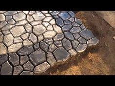 DIY Massive Concrete Cobblestone Patio - YouTube