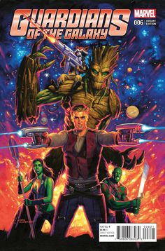 Guardians of the Galaxy (Hildebrandt Classic Cover) Marvel Comics Art, Marvel Heroes, Marvel Movies, Marvel Dc, Comic Art, Comic Books, Brian Michael Bendis, Cinema, Star Lord