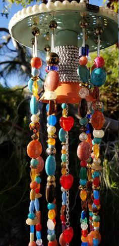Garden Sun Catcher Heavily Beaded Wind Chime Charms