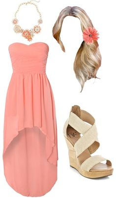 107 Peachy Summer (Outfit) by kamicecil on Polyvore