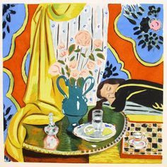 Henri Matisse. Harmonie jaune. Color pochoir (hand-colored stencil print) after a painting, 1929