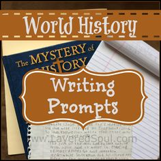 We could use some of these writing prompts for a creative writing assignment about history in language arts. RBW