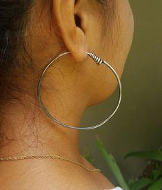 Gypsy Jewelry, Tribal Jewelry, Sterling Silver Hoops, Silver Hoop Earrings, Best Jewelry Designers, Bohemian Accessories, Unique Gifts For Her, Hippie Gypsy, Gypsy Style