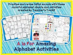 A is for Amazing Alphabet Activities! Charts and Workbook  $4.50