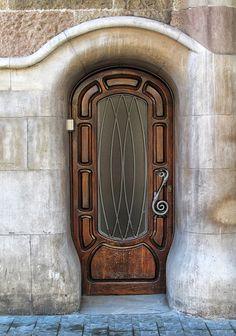 Barcelona Door Photograph