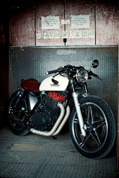 "CB Honda cafe racer... New meaning to ""Redhead"""