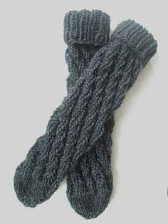 Ravelry: Easy Socks (without heel) pattern by Bianca Gerwien Crochet Socks, Knitted Slippers, Crochet Yarn, Knitting Socks, Knitted Hats, Knit Socks, Loom Knitting Projects, Knitting Patterns, Knitting Ideas