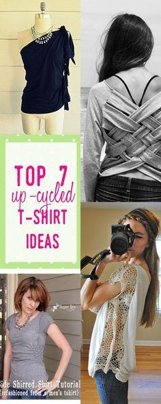 t shirt ideas | cut up shirts  | upcycled clothing | cool t shirts | diy tshirts
