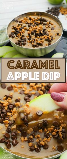 A delicious and creamy caramel sauce that is perfect for parties or enjoying for dessert! This homemade Caramel Apple Dip comes together quick and easy with just 5 ingredients you probably already have on hand.