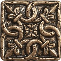 Renaissance x Sicily Accent Tile in Antique Bronze Casablanca, Renaissance, Tile Crafts, Cd Crafts, Tin Tiles, Tiles Texture, Decorative Tile, Tile Art, Tile Patterns