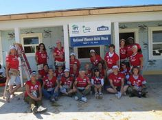 The ladies of Indian River Habitat for Humanity, who measured, cut, and installed 117 pieces of siding and framed at least 5 interior walls as part of National Women Build Week!