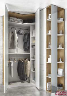 Distribución interior del armario rincón chaflán dormitorio de matrimonio, dormitorio moderno, cabezal, mesitas, interiores, deco, hogar, interiorismo, mueble, mueble moderno, muebles modernos, dormitorio, melibel, armario, armario puertas batientes, armario tocador, armario eco, armario espejo, armario cajones