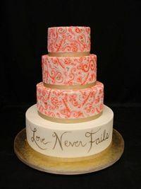 Love Never Fails ~ Wedding Cake