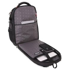SwissGear Scan Smart Tsa Laptop and Usb Power Plug Backpack - Black Swissgear Laptop Backpack, Backpack Straps, Black Backpack, Best Diaper Bag, Backpack Reviews, Computer Sleeve, Laptop Stand, Best Laptops, Up Shoes