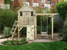 tree house playhouses   Playhouse with swing (PC110527) - tree house, playhouses outdoor ...