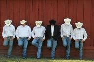 Cowboy groom and groomsmen - great photo shoot idea...Kristen I want this