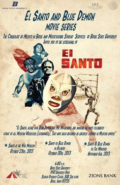"""The Boise Mexican Consulate and Multicultural Student Services will present a free film screening of """"El Santo,"""" a lucha libre drama, at 6 p.m. Wednesday, Nov. 6, in the Student Diversity Center on the second floor of the Student Union.  The film features El Santo, Blue Demon and Mil Mascaras, some of the most celebrated and iconic Mexican wrestlers, or luchadores. They have been referred to as the greatest legend in Mexican sports."""