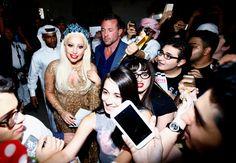 Lady Gaga in Dubai.