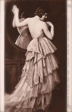 Lot of 2 Vintage Original Antique 1910s Erotic Glamour Fine Art French Postcards