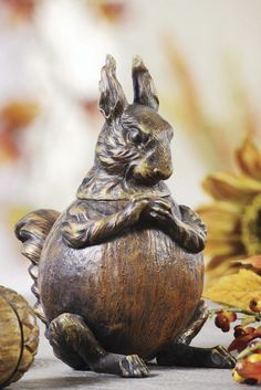 """Resin Vintage Reproduction of Squirrel Ink Well. 7-1/2""""H This beautiful reproduction of this inkwell is just the perfect gift for any squirrel lover!"""