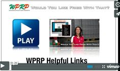 "#MaterialHandling WPRP Website Helpful Links via our video mini-series ""Would You Like Fries with That"" featuring Joshua Smith and Linda Anlauf.  At WPRP Our Goal is to Help You and in this video Linda will discuss the values of our Helpful Links tab found at the bottom of our page.  http://www.wprpwholesalepalletrack.com"