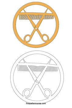 Comb and Scissors Free Laser Cutting Pattern