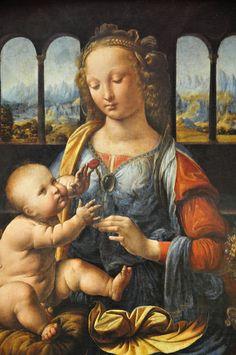 Madonna of the Carnation -- 1478-80 -- Leonardo da Vinci -- Italian -- Oil on panel -- Alte Pinakothek, Munich