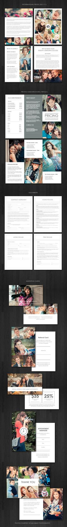The Ultimate Portrait Photography Marketing Kit - Welcome Packet Templates