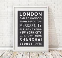 Personalised World Destinations Print