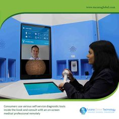 #Consumers use various #self-#service diagnostic #tools inside the #kiosk and consult with an #on-#screen medical #professional #remotely. #TucanaGlobalTechnology #Manufacturer #HongKong