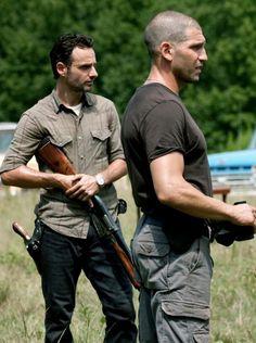 Rick grimes and Shane  Walsh.
