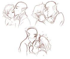 "vesperian-noir: ""Just practicing some kissing. """