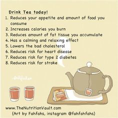 Health benefits of tea! and other health and wellness tips!