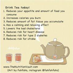 Health benefits of tea!