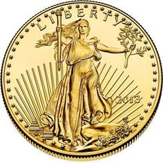 2013 - 1/4 oz. American Eagle Gold Bullion Coin - obverse side #GoldBullionInvestment #GoldBullionBars #GoldCoins