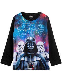 Disney Star Wars tröja i mjuk bomullskvalitet med tryck.- Rak passform- Lång ärm- Rund halsringning