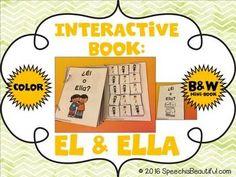 Interactive Adapted Book: ¿Él or Ella? - Pronoun Fun!