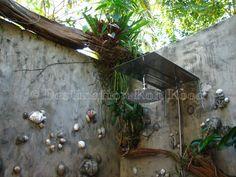 Rain shower in open-air bathroom @ Horizon Resort Koh Kood, Thailand