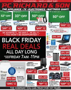 PC Richard & Son Black Friday Ad - http://www.hblackfridaydeals.com/pcrichards-black-friday-deals-sales-ads/