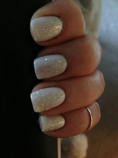 White sparkle nails! Love it!!