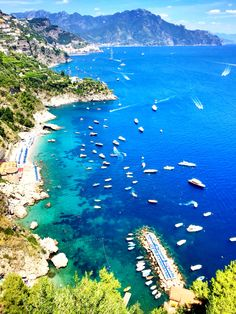 Conca de Marini , village along the amazing Amalfi Coast , where the sea is wonderful and clean