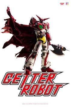 "Thanks to all who supported our Getter Robot license! We want to share more photos of 15"" tall Getter Robot collectible, this time by Dick.Po. Getter 1 comes with two Getter Tomahawks, Detachable Cape (poseable with build-in wires) and light-up feature in the eyes and Getter Beam shooting port. Full album at our Facebook page: https://www.facebook.com/media/set/?set=a.1345642815461543.1073741953.697107020315129&type=1&l=38453f9b2b #threezero #GetterRobo #GetterRobot #GoNagai #KenIshikawa…"