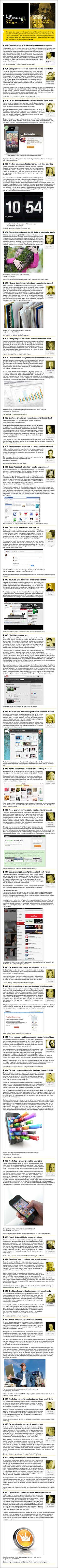 Wat Social Media betreft gaan de ontwikkelingen razendsnel. Een aantal van de Insights in deze TrendTree® over SocialMedia van zomerinhuis.nl zijn  nu al aan het veranderen. Read & Weep.