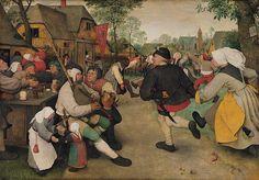 Pieter Bruegel the Elder - Barn Dance Museum Vienna - Oil on oak panel, 114 x 164 cm] Caravaggio, Pieter Brueghel El Viejo, Kunsthistorisches Museum Wien, Medieval Peasant, Pieter Bruegel The Elder, Jan Van Eyck, Tower Of Babel, Barn Dance, Oak Panels